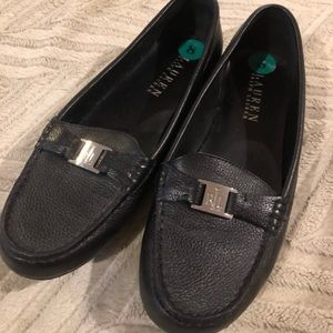Ralph Lauren Carley Flats Loafers Size 8 Black NEW